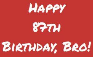 Happy Birthday, Brother website slider